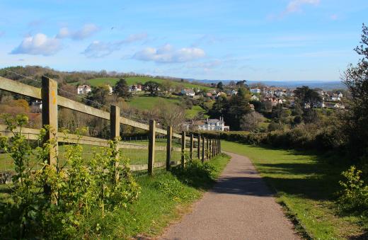 Coast path walk to Beer path