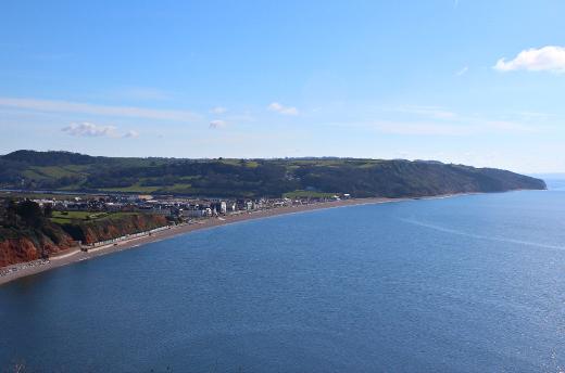 Coast path walk to Beer seaview