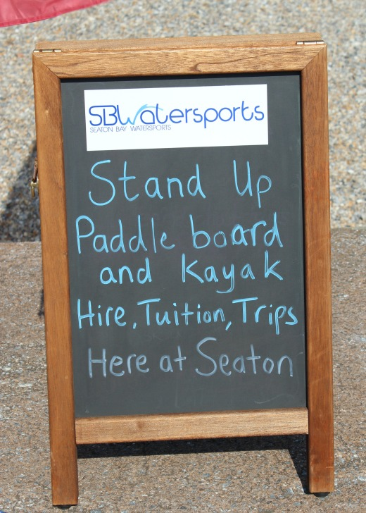 Paddle Boarding in Devon and Dorset info sign