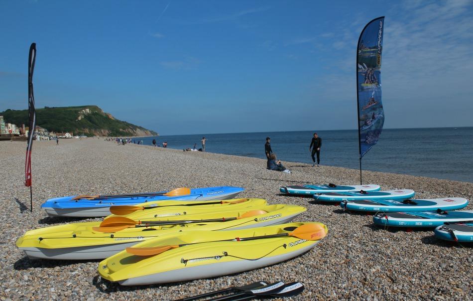 Paddle Boarding in Devon and Dorset kayaks