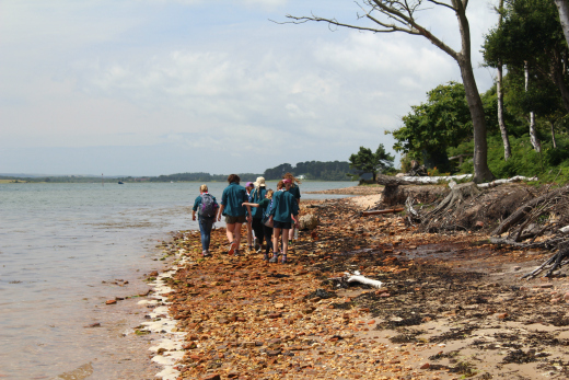 Brownsea Island Scouts on beach