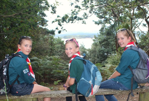 Brownsea Island Scouts with a view