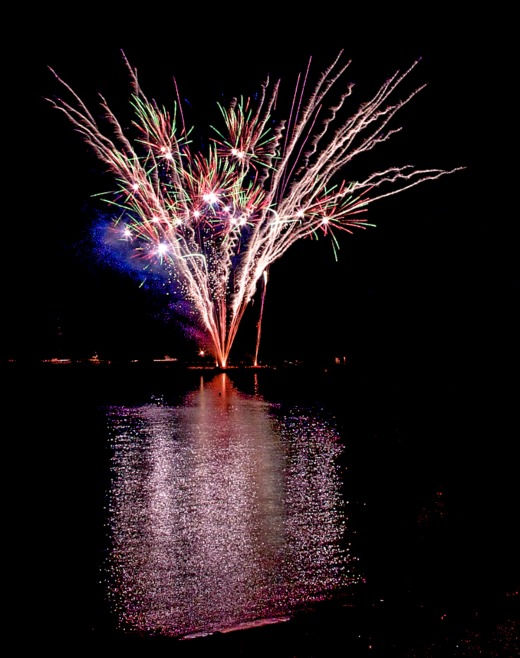 Events in Lyme Regis fireworks
