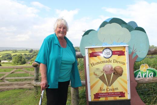 Furzeleigh Down Dairy ice cream Val