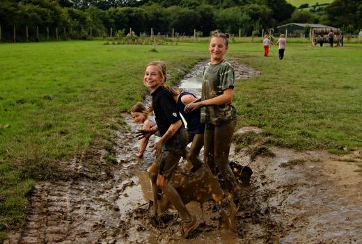Bear Trail Cullompton muddy puddles