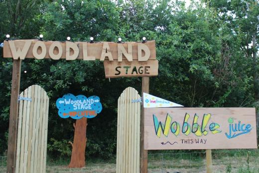 Livestock Langdon Music Festival Woodland stage