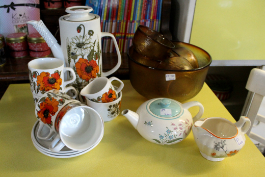 The Vintage Shed Colyton retro coffee set