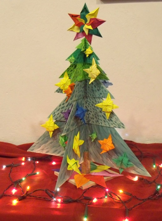 Christmas Tree Festivals in Churches 2016 origami
