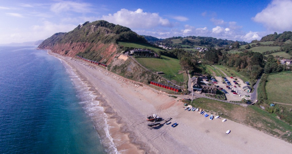 Family winter beach walks in East Devon Branscombe