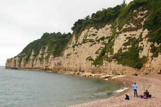 Family winter beach walks in East Devon Beer