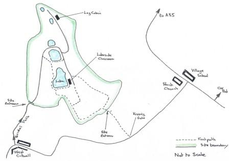 Offwell Woodland Walk map