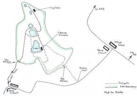 Offwell Woodland Walk map