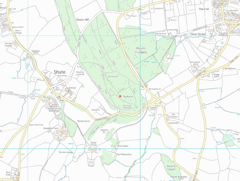 Shute Woods Map