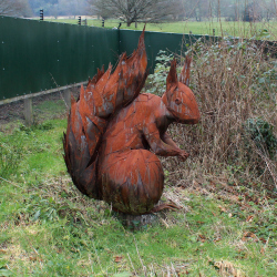 Wildwood Escot Family Day Out Devon red squirrel walk sculpture