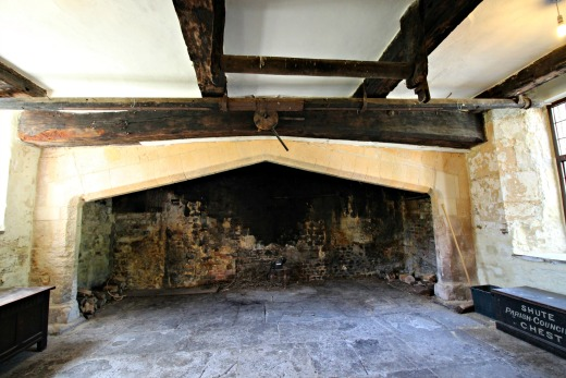 Shute Barton National Trust Historic House Devon Guided Tour largest fireplace in England