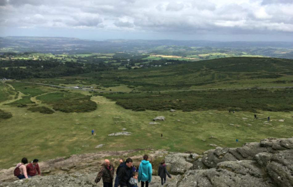 Dartmoor Moor Otter Trail Haytor view