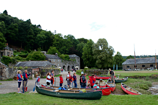 Family Canoeing in Devon and Cornwall with Tamar Trails Cotehele Quay