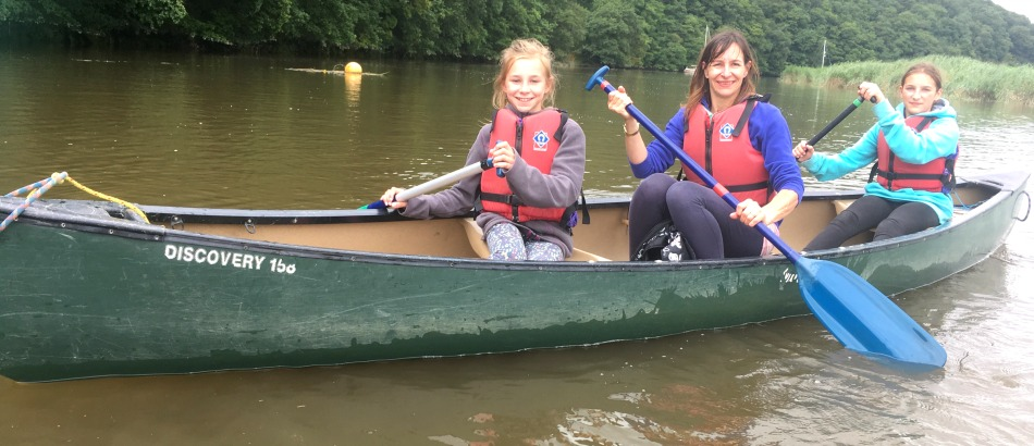 Family Canoeing in Devon and Cornwall with Tamar Trails family