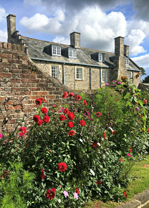 Cadhay House Historic East Devon Stately Home side gardens a lovely day out in East Devon
