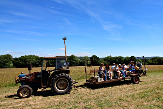Goren Festival Family Friendly Music Festival Devon tractor ride