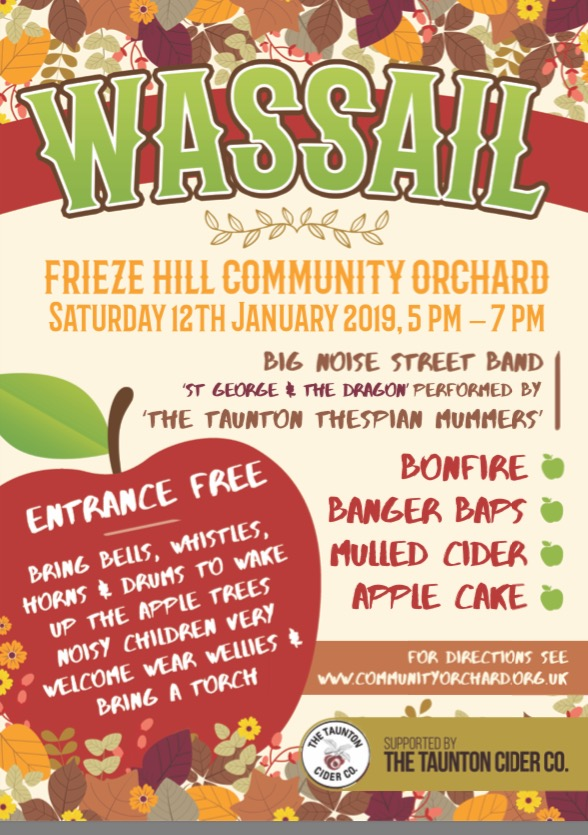 Wassailing Events in Devon and Somerset Frieze Hill Taunton Wassail