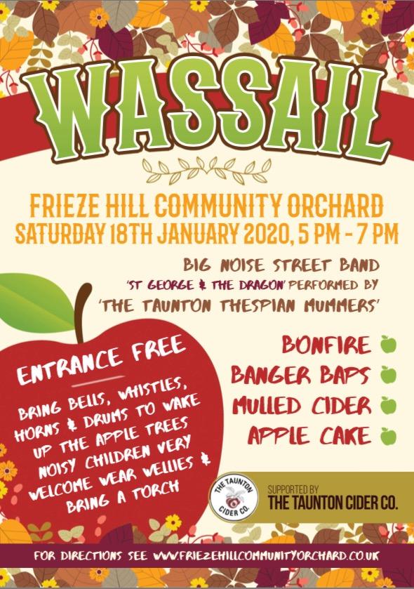 Wassailing Events in Devon and Somerset Frieze Hill Taunton Wassail