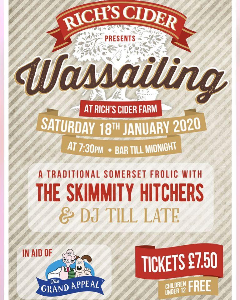 Wassailing Somerset Rich's Cider Farm poster