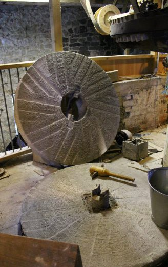 Lyme Regis Town Mill large milling stones