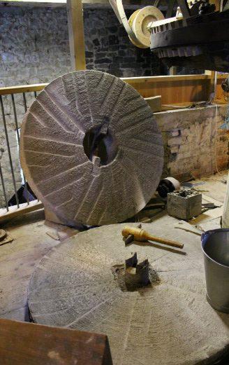 Lyme Regis Town Mill large milling stones