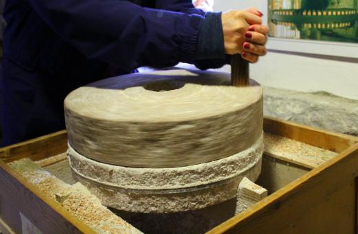Town Mill Lyme Regis grinding stone