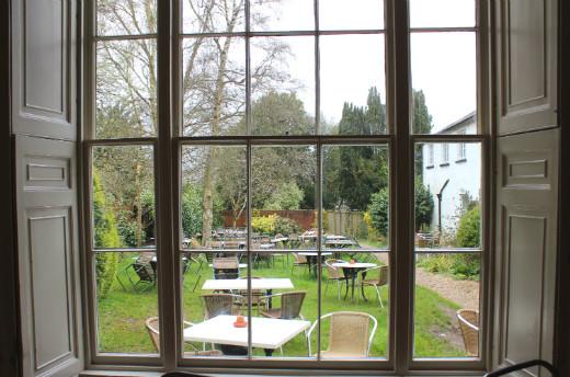 Boston Tea Party Honiton cafe review garden view