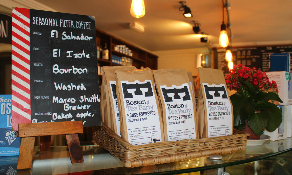 Boston Tea Party Honiton cafe review guest house coffee
