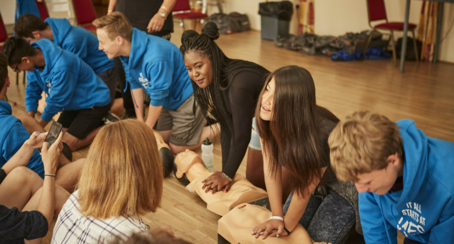 National Citizen Service Summer Opportunities for Teenagers first-aid