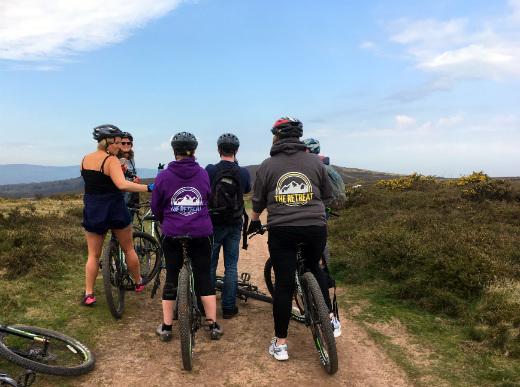 Outdoor Adventures in Somerset mountain biking The Retreat gang