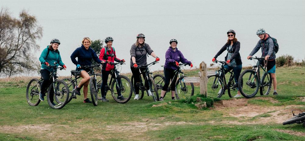 Outdoor Adventures in Somerset mountain biking team picture