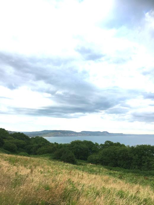 A short walk in Lyme Regis sea view