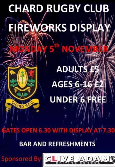 Chard Fireworks 2018 Poster
