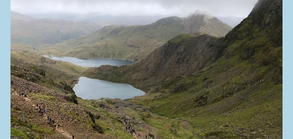Walking Snowdon –  Miners and Pyg Tracks
