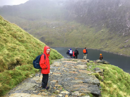 Walking Snowdon Miners and Pyg Pass down on Miners