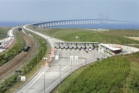 The Lernacken toll plaza Denmark Bridge to Malmo - pic credit Stig-Åke Jönsson MalmöBild