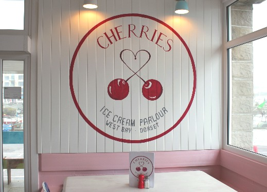 Cherries Ice Cream Parlour West Bay interior