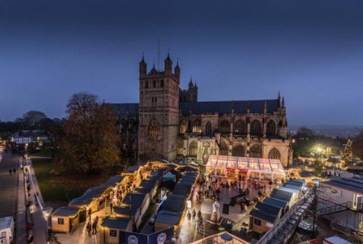 Exeter Cathedral Christmas Market credit Tim Prestridge