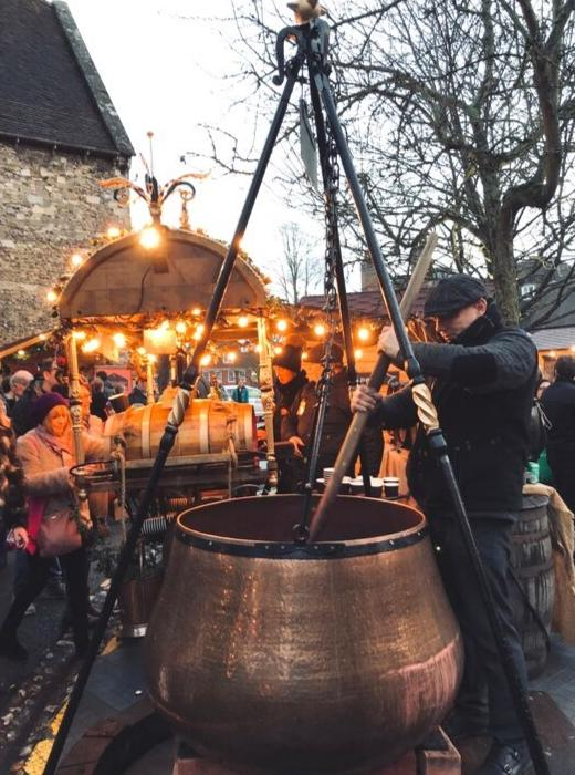 gluhwien at Winchester Cathedral Christmas market