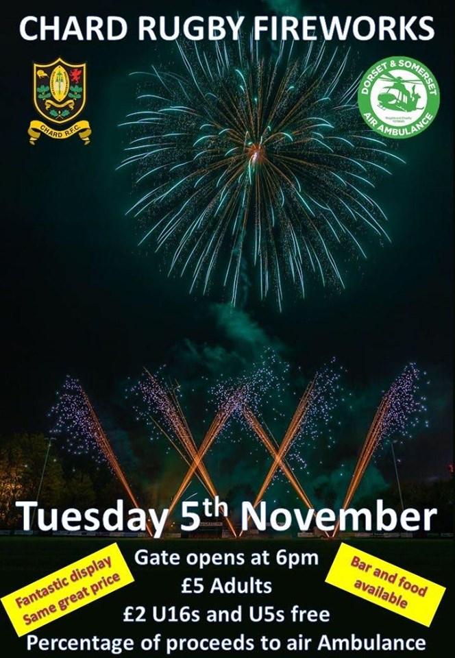 Chard Rugby Club Fireworks