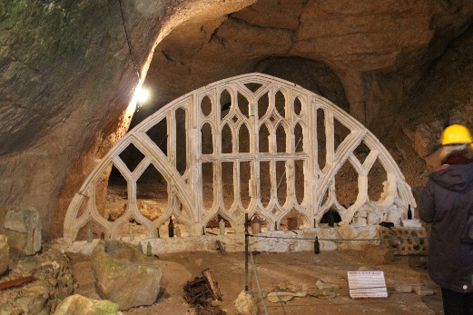 Beer Caves - hand carved arch