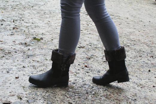 Hotter Windsor black boots side view
