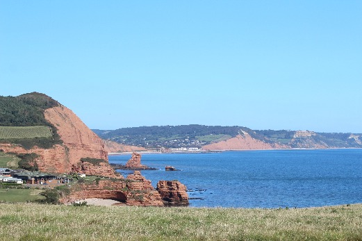 South West Coast Path Ladram Bay Sidmouth view