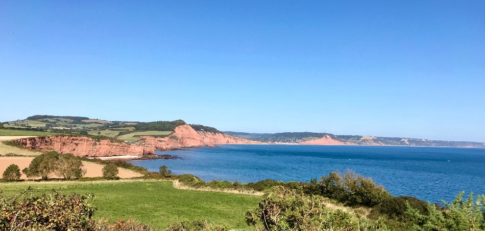 Coast Path Walk from Budleigh Salterton