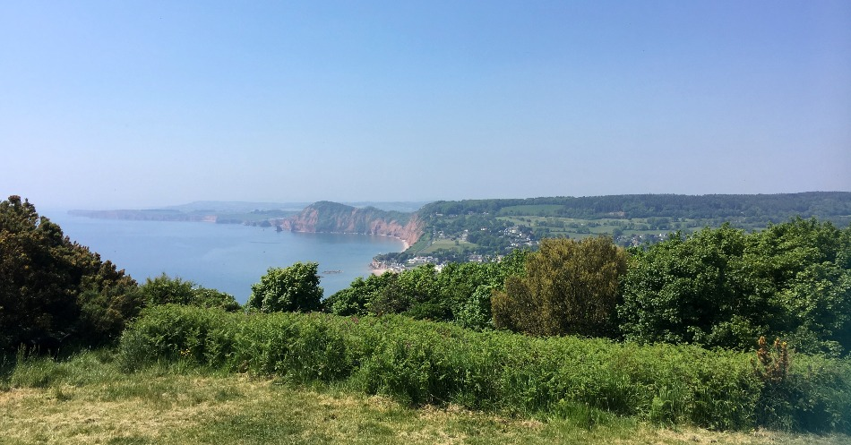 South West Coast Path Salcombe Hill view