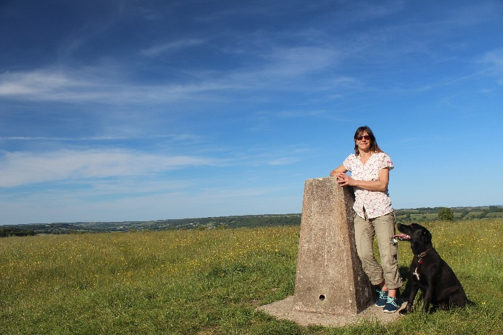 Dumpdon Hill Fort trig point